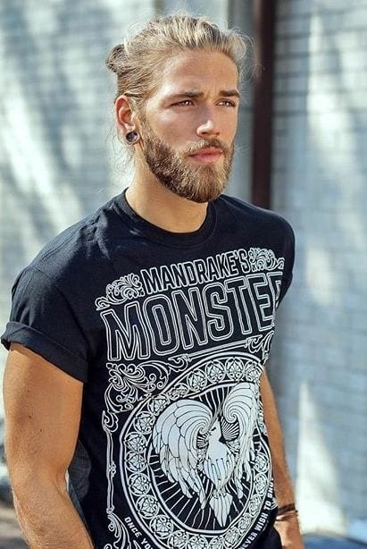 Bearded man with Hairbun