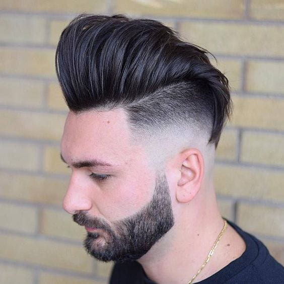 High Fade Pompadour hairstyle