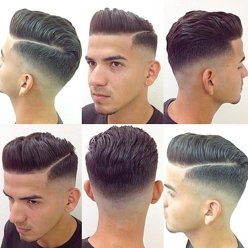 The most simple & medium Pompadour