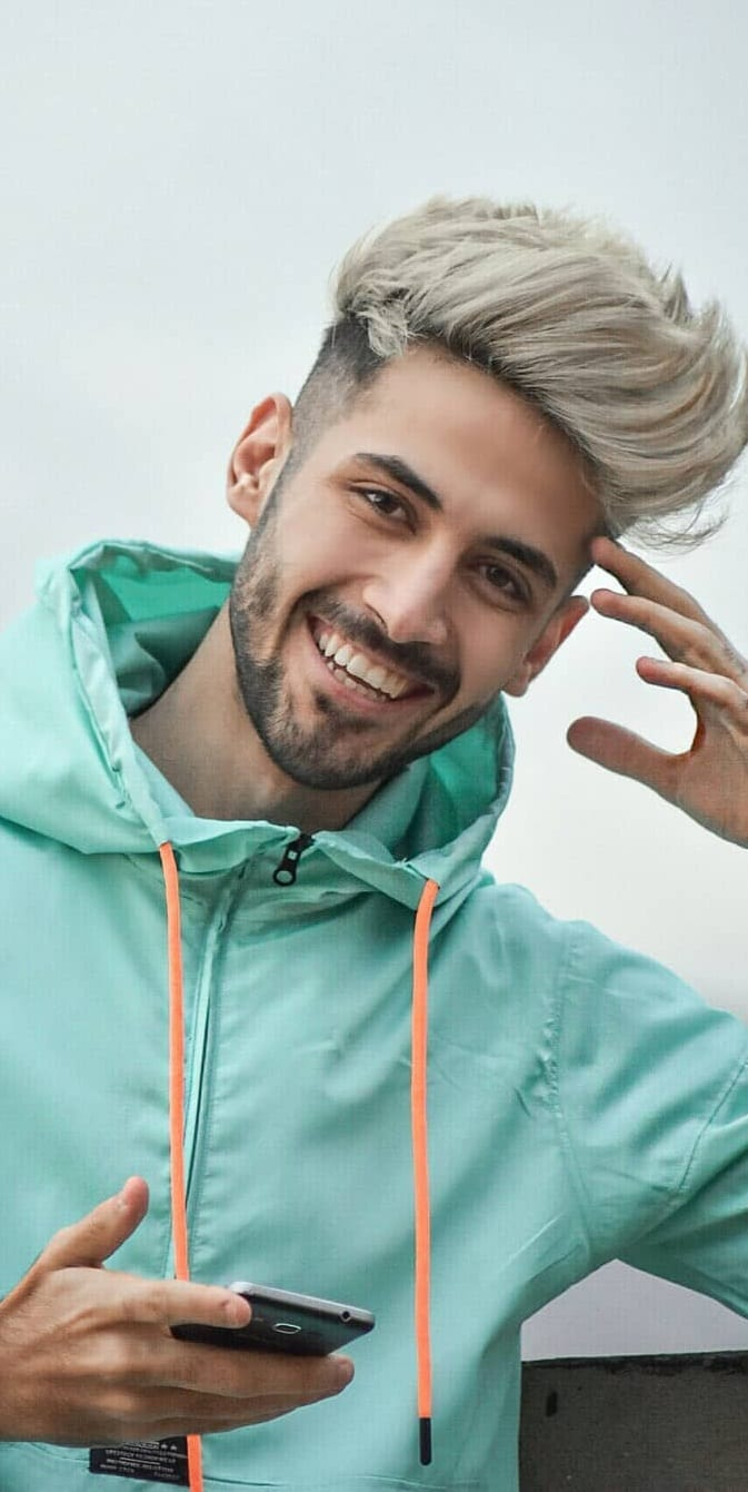 Textured Hipster Hairstyle For Men