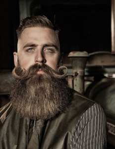 The most unique Hipster Hairstyled by men - Moustache + Short Hair & Long Beard