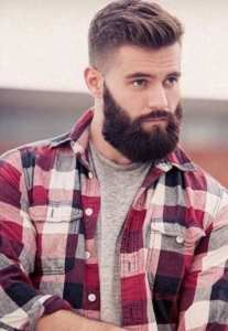 undercut hairstyle for men with flannel shirt