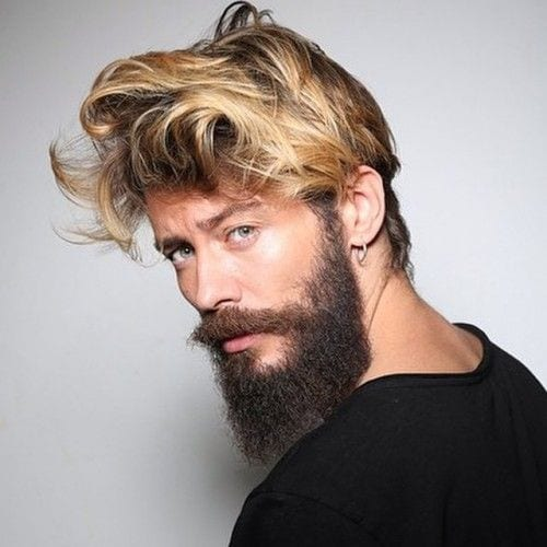 Long-BEard-with-MEdium-long-messy-hairstyle-for-men