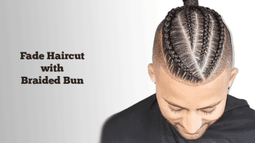 Fade Haircut with Braided Bun