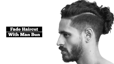 Fade Haircut With Manbun