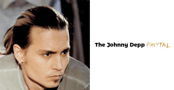 Johnny Depp Ponytail Hairstyles