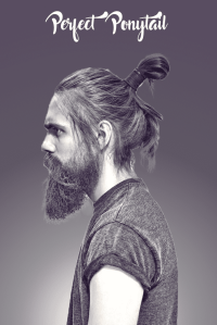 Ponytail hairstyle images for men