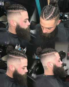 fade with braided
