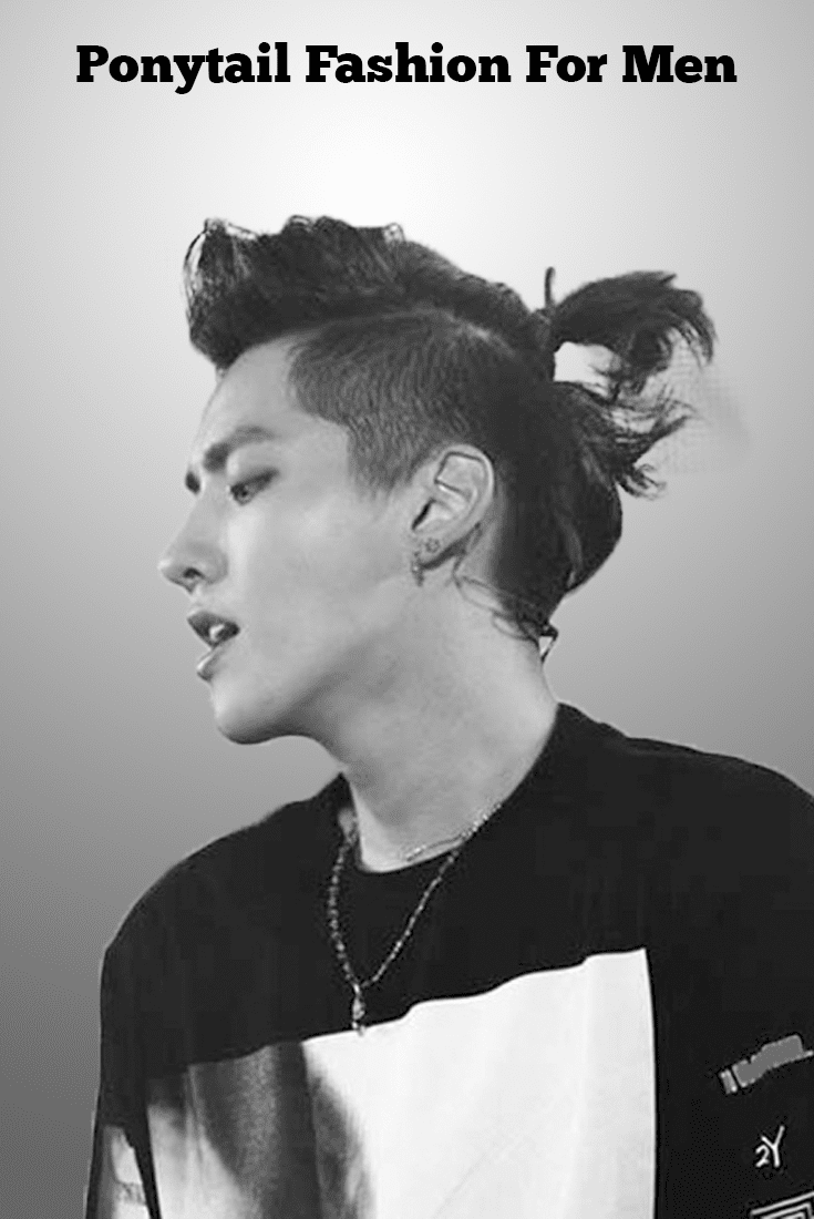 latest Ponytail hairstyle For Men