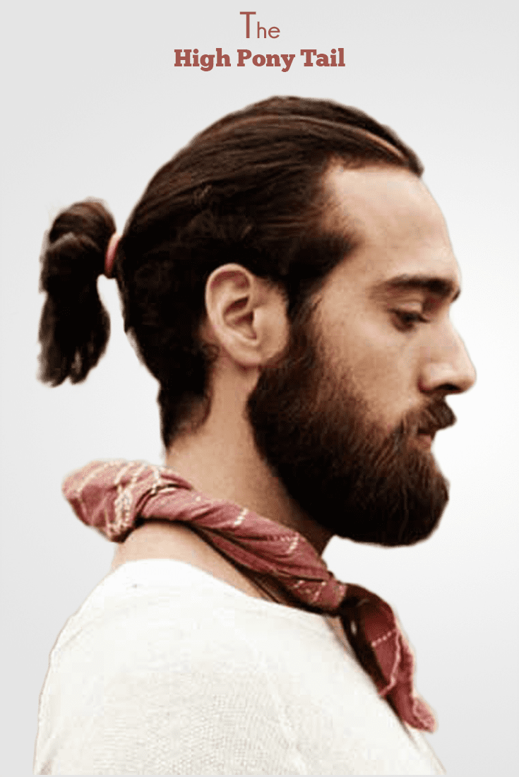the high ponytail  the strong  sexy hairstyle  men's