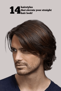 popular straight hairstyles for men pictures