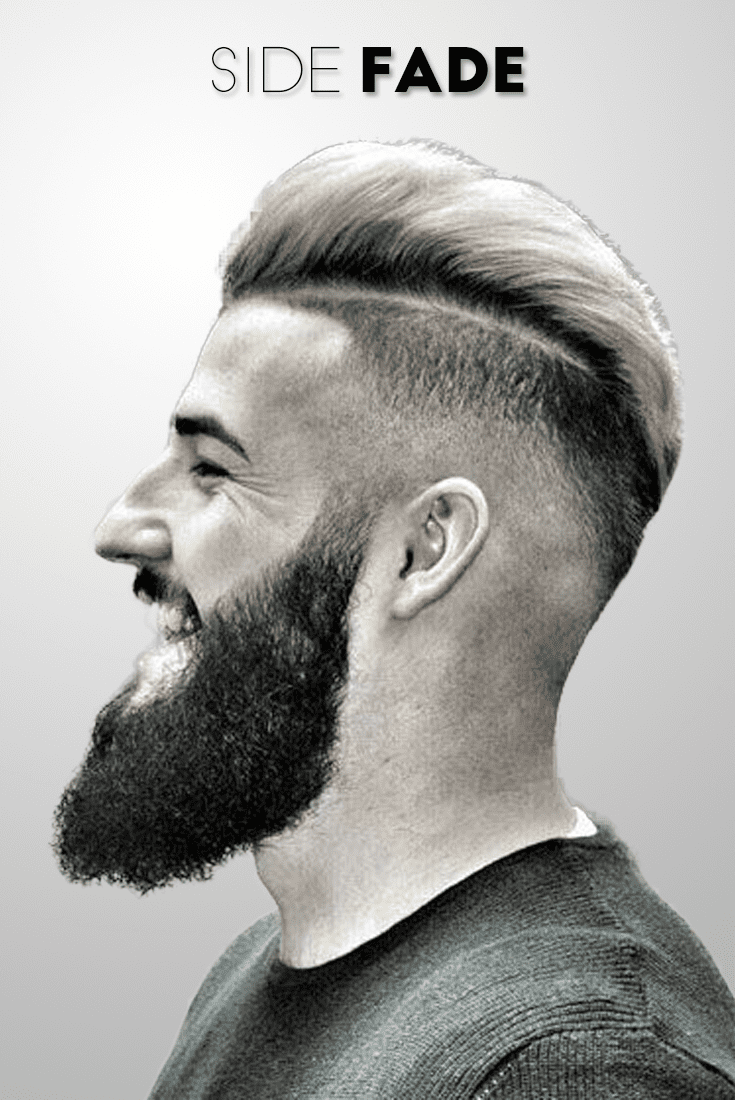 side fade hairstyles men