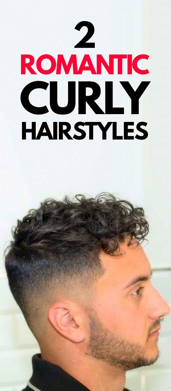 Curly Hairstyle for men 2019.