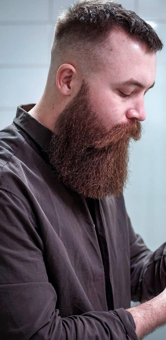 Fade Haircut, Beard & Moustache – Combination For Men