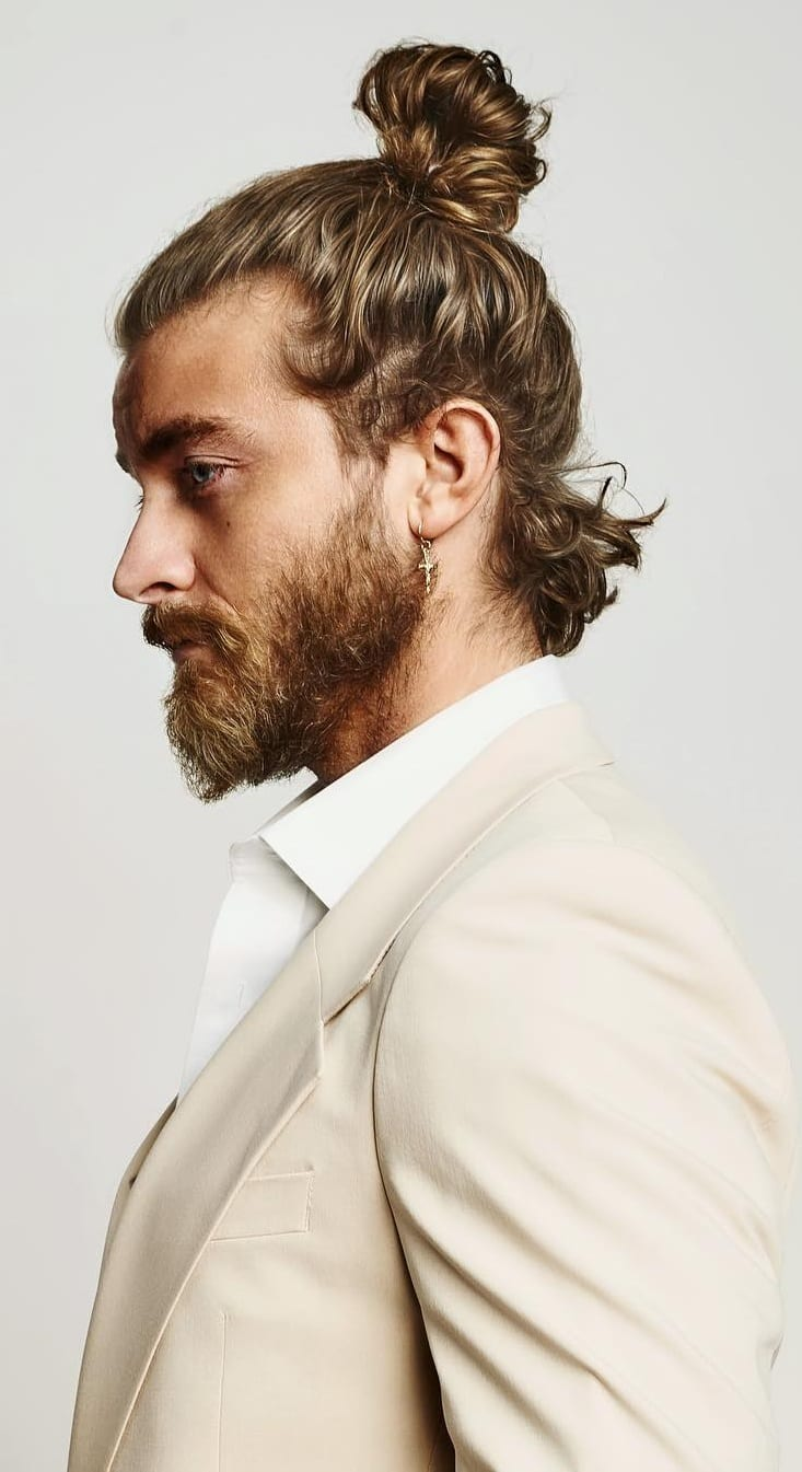 High Ponytail Hairstyle For Men