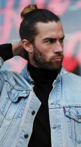 High Ponytail Hairstyle For Men.