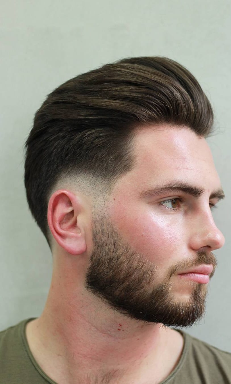 Pompadour Haircut For Straight Hair