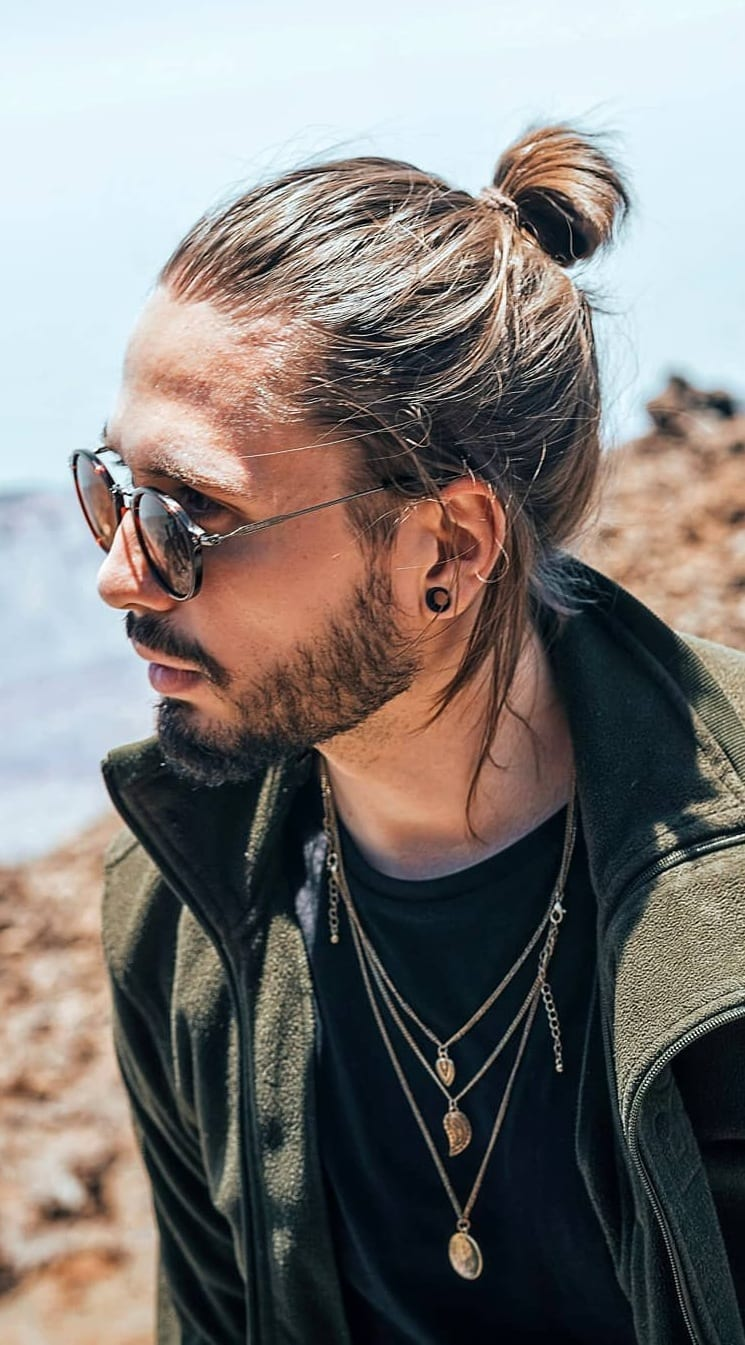 Ponytail Hairstyle For Men.