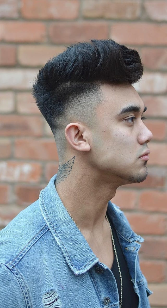 Spikes With Fade Haircut For Men