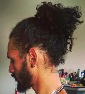 curly-hair-man-bun
