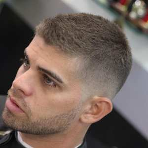 fade haircut with scanty hair