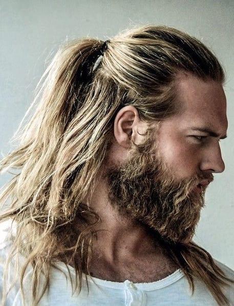 half-ponytail