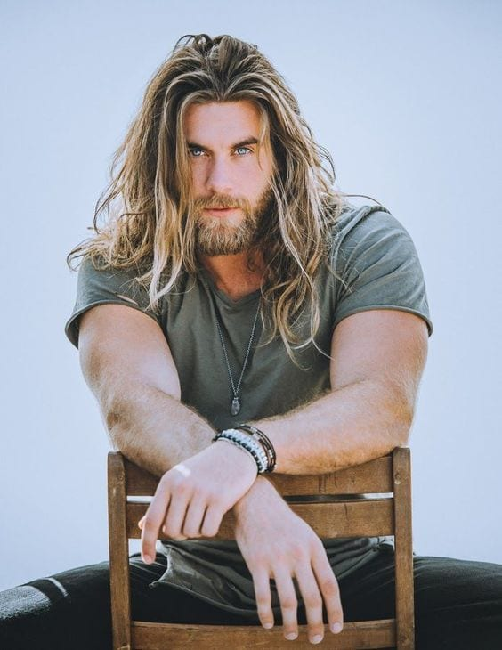 long mane length hairstyle for men
