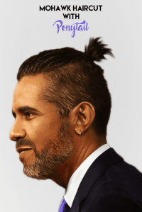 pictures of trendy mohawk ponytail