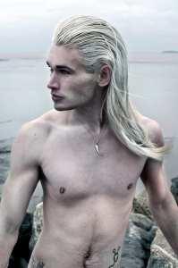 platinum long hair