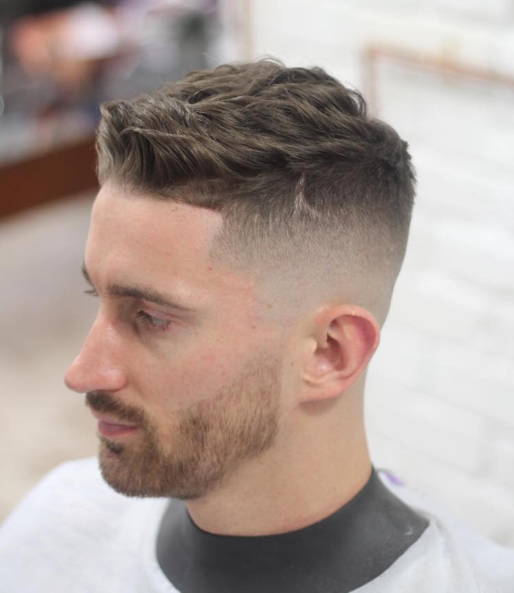 short haircut men bald fade