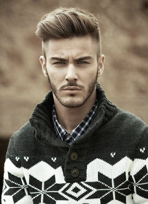 short pompadour hairstyle for men