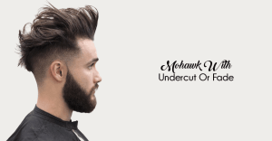 trendy mohawk with undercut haircuts