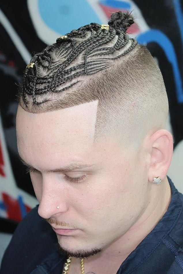 Short braids haircut for men in 2019