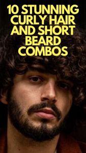 CURLY HAIR AND SHORT BEARD COMBO