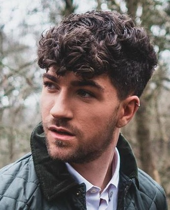 Curly Hair And Short Stubble Beard Combos