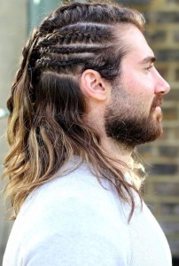 Long hair braid hairstyles for Men