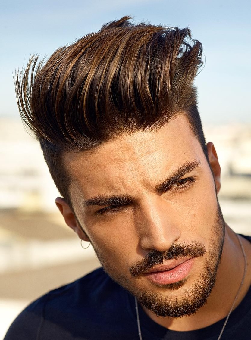 Pompadour and Beard Combination for Men
