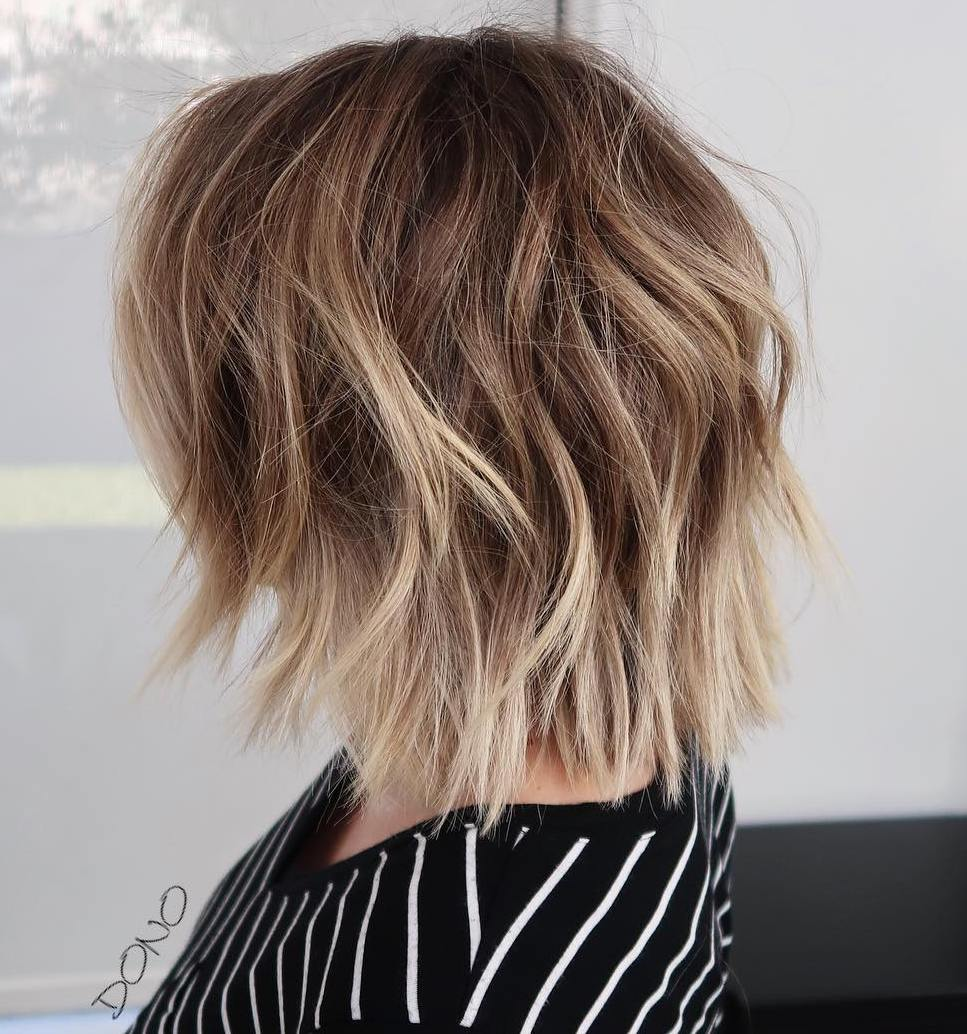 layered low maintenance medium length hairstyles for thin