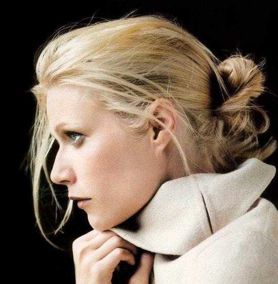 Gwyneth Paltrow Bun Hairstyle