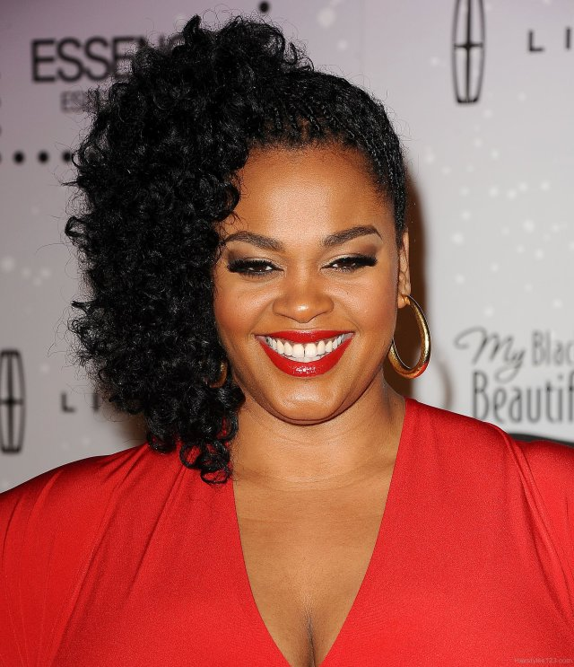 jill scott side pin up hairstyle