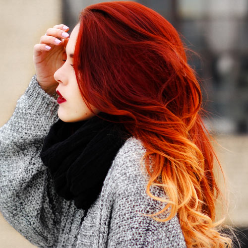 Red And Blonde Ombre Hair Color