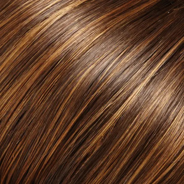 6F27 | Caramel Ribbon | Brown with Natural Red-Gold Blonde Highlights & Tips Jn Renau Wigs