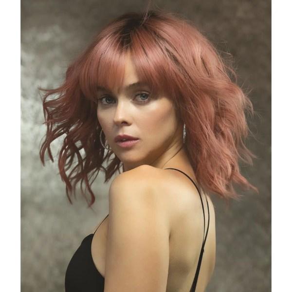 Breezy Waves Wig by Rene of Paris in Dusty Rose