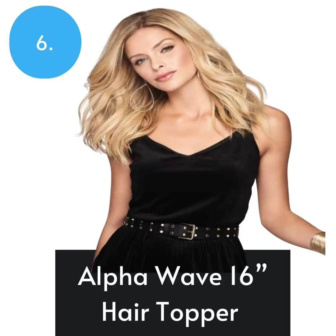 Alpha Wave Hair Topper By Raquel Welch | Heat Friendly Synthetic