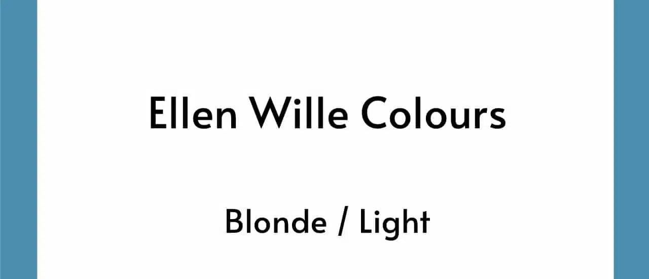 Ellen Wille Colours - Blonde Light