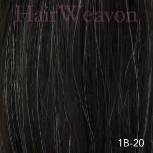 Men's Hair System Colour 1B 20% Grey | Human Hair | Customised