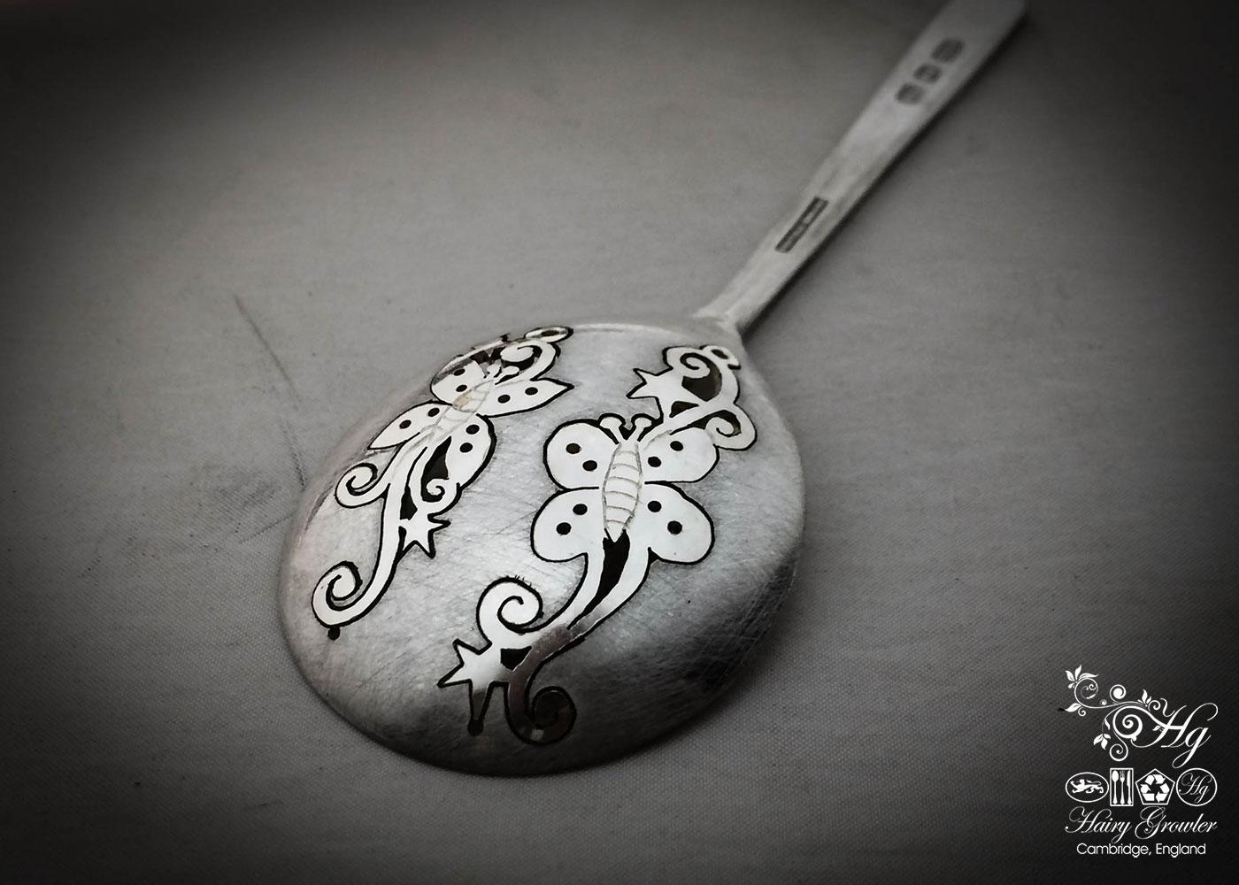 handmade and repurposed spoon butterfly earrings