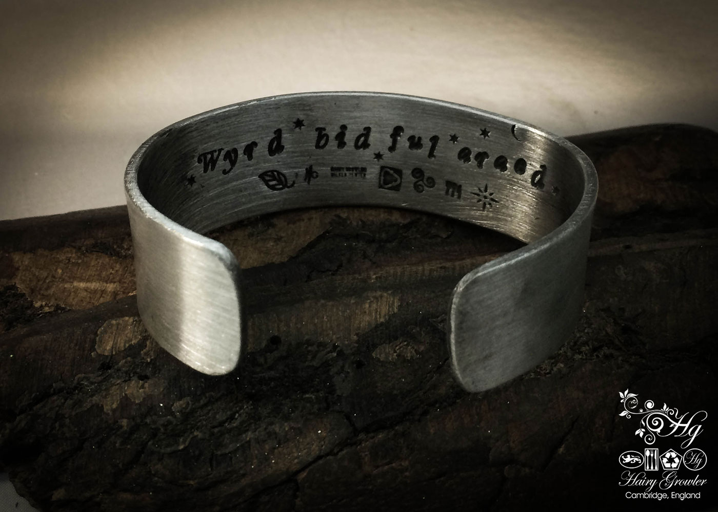 Handcrafted and recycled celtic kuff bangle