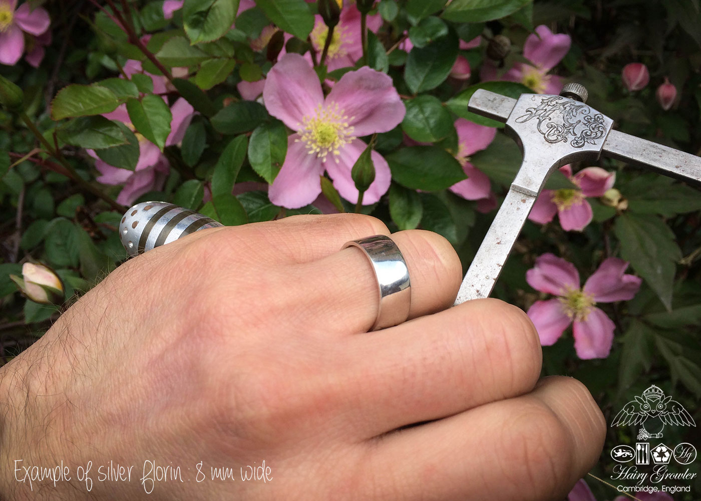Handcrafted and recycled silver coin wedding rings