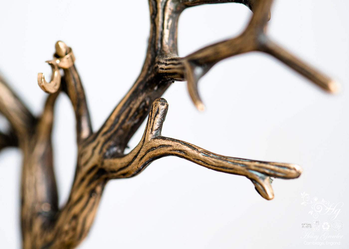 handcrafted and unique bronze oak tree of life sculpture